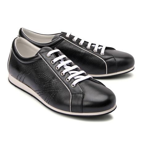Brioni // Leather Fashion Sneaker // Black (Euro: 43)