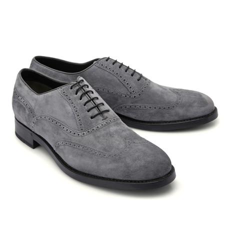 Brioni // Suede Full Brogue Shoe // Gray (Euro: 43)