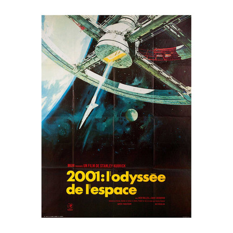 2001: A Space Odyssey // R1970s // French Grande Poster
