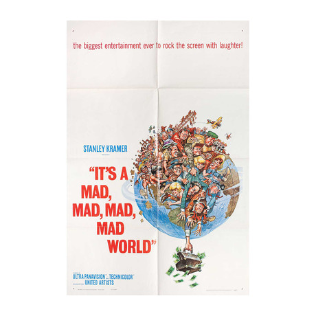 It's a Mad, Mad, Mad, Mad World // 1963 // U.S. One Sheet Poster
