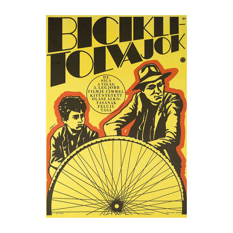The Bicycle Thief // 1968 // Hungarian A1 Poster
