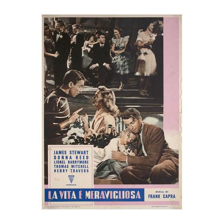 It's a Wonderful Life // R1956 // Italian Fotobusta Poster