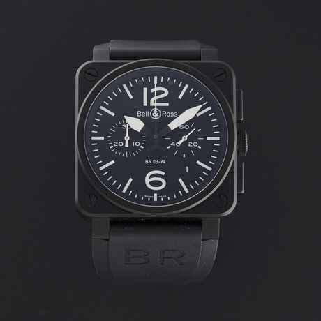 Bell & Ross BR03-94 Chronograph Automatic // BR03-94-BL-CE // Store Display