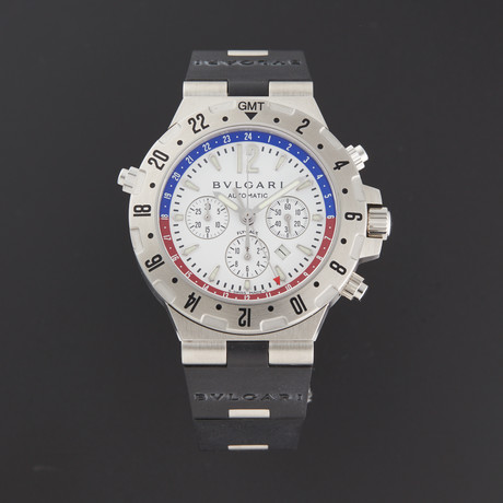 Bvlgari GMT Chronograph Automatic // GMT40SVDFB // Store Display