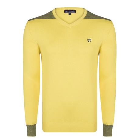 Harvard Pullover // Yellow + Navy (XL)