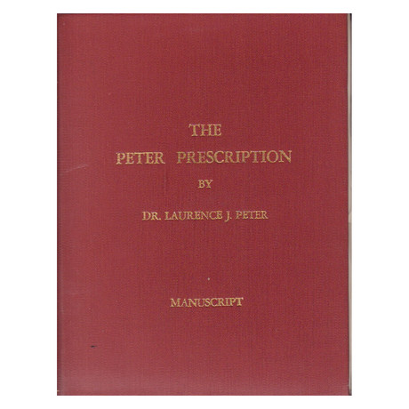 The Peter Prescription // Custom Bound Manuscript // One Of A Kind