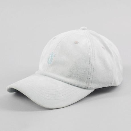 Pineapple Suede Cap // Powder Blue