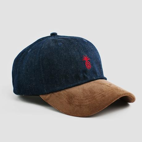 Pineapple Two-Tone Cap // Denim + Corduroy