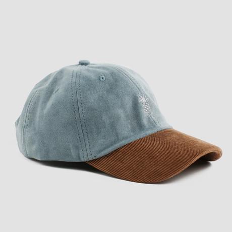 Pineapple Two-Tone Cap // Steel Blue + Corduroy