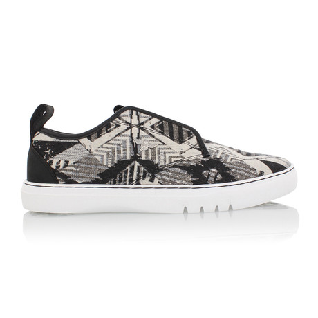 Lacava Q Tribal Low-Top Sneaker // Black + White (US: 7)
