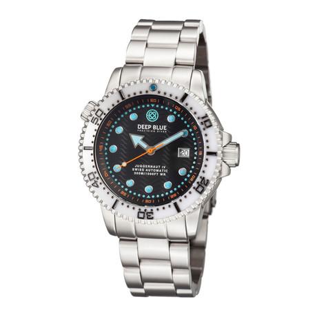 Deep Blue Juggernaut 4 Diver Automatic // JUGG4WHITEBLKBRACE