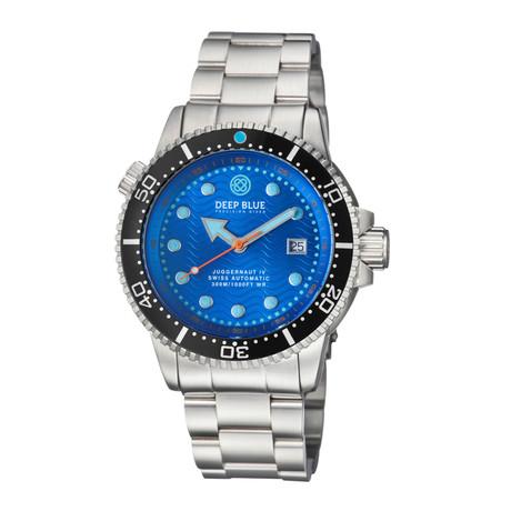 Deep Blue Juggernaut 4 Diver Automatic // JUGGYBLACKBEZBLUEDIA