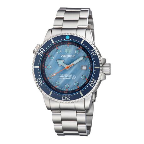 Deep Blue Juggernaut 4 Diver Automatic // JUGGYMOPBLUEBRACELT