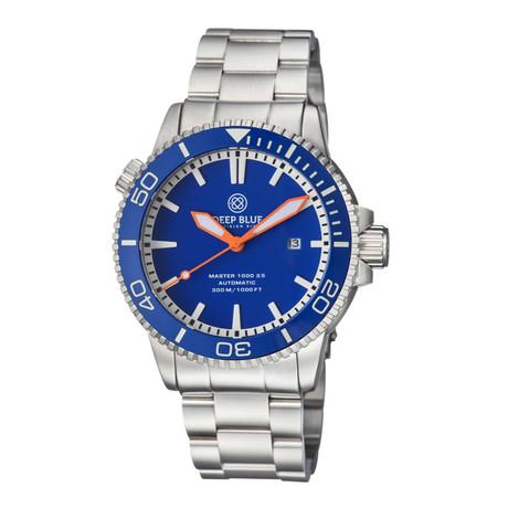 Deep Blue Master 1000 2.5 Diver Automatic // M1K25CERBLUEORANGE