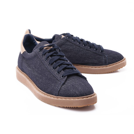 Leather + Canvas Sneaker // Denim Blue (Euro: 39)