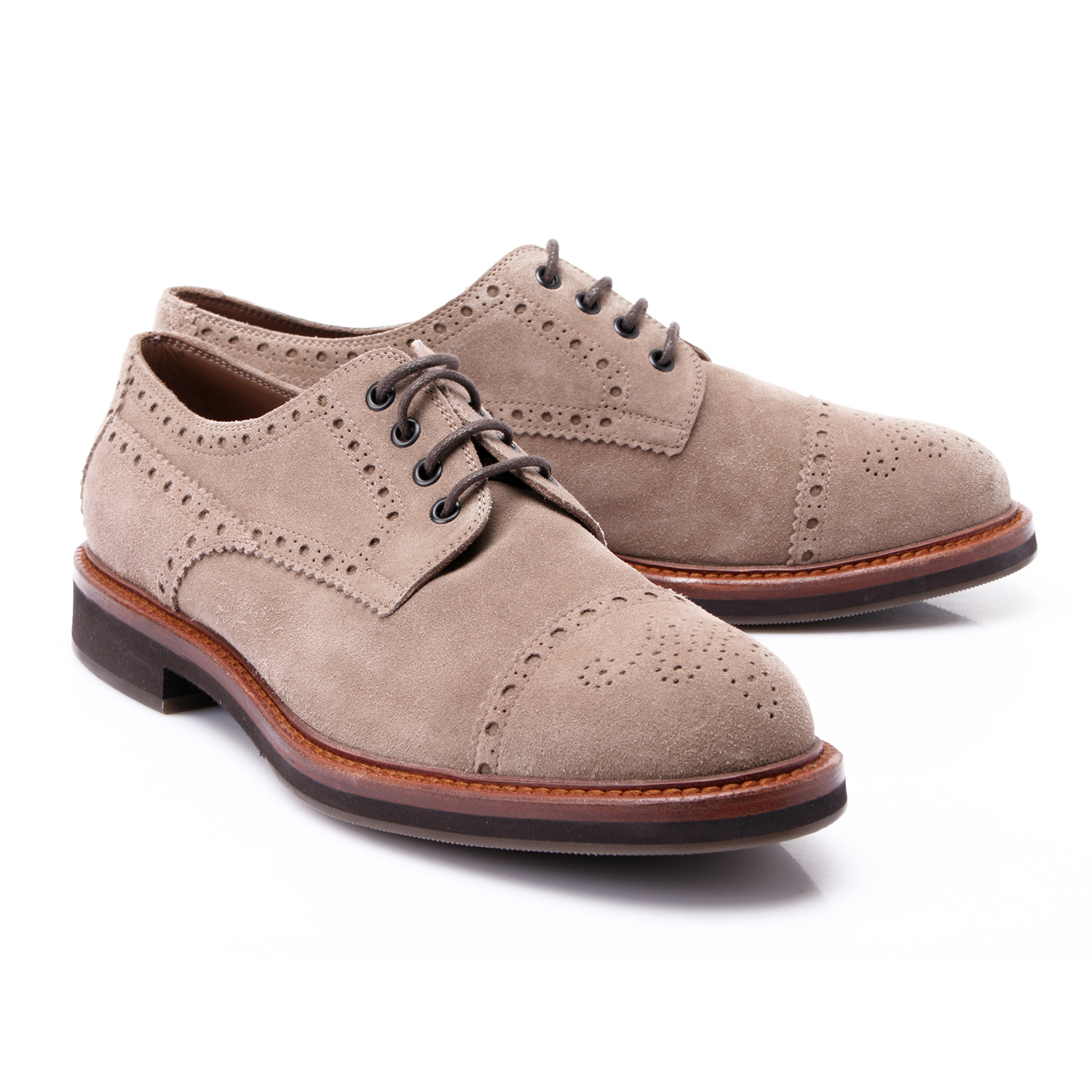 edd8f5cb6b6 Suede Derby Lace-Up    Tan (Euro  40) - Brunello Cucinelli - Touch of Modern