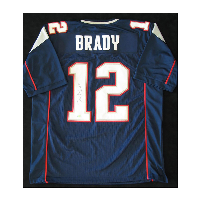 best service 8defd 1fd55 New England Patriots // Signed Navy Jersey // Tom Brady ...