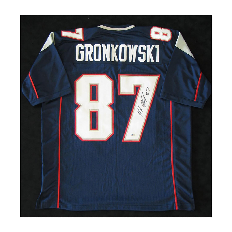 super popular 9d6b3 65a3b New England Patriots // Signed Jersey // Rob Gronkowski ...
