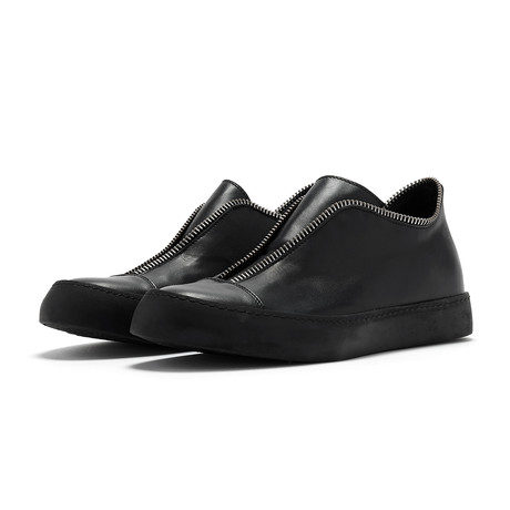 Jamal Avant Raw Low-Top Sneaker // Black (Euro: 41)