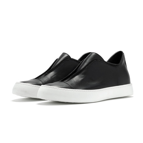 South Lane // Avant Raw Low-Top Sneaker // Black + White (Euro: 40)