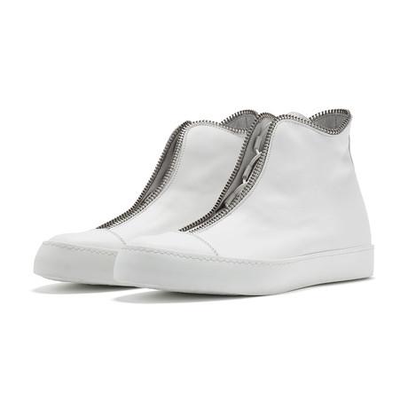 South Lane // Avant Raw High-Top Sneaker // White (Euro: 36)
