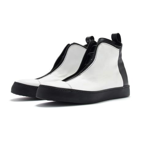South Lane // Avant Diffuse High-Top Sneaker // Black + White (Euro: 36)