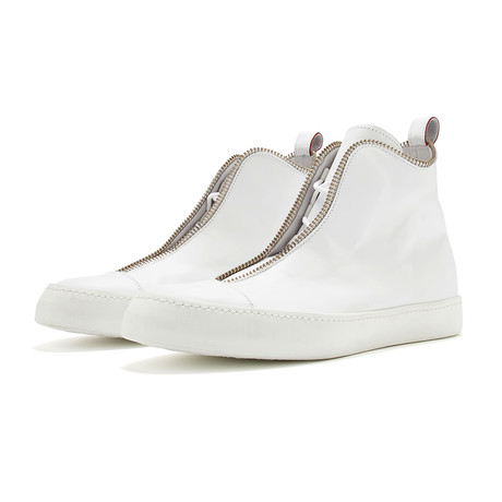 South Lane // Avant Pure Invert High-Top Sneaker // White (Euro: 36)