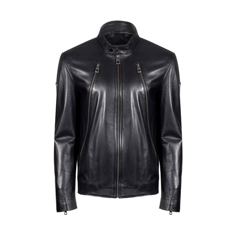Ramos Leather Jacket // Black (L)