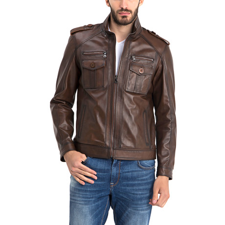 John Leather Jacket // Chestnut (S)