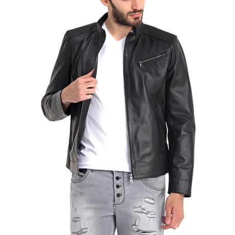 Johncen Leather Jacket // Black (3XL)
