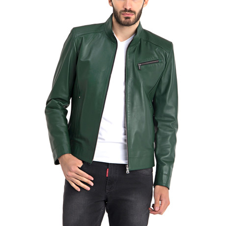 Johncen Leather Jacket // Green (S)