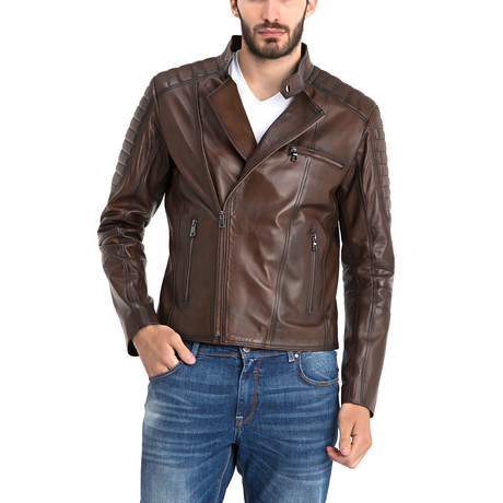 Stan Leather Jacket // Chestnut (S)