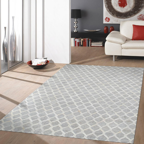 Tribeca Hand-Stitched Cowhide Area Rug // 3106 // 5' x 8'