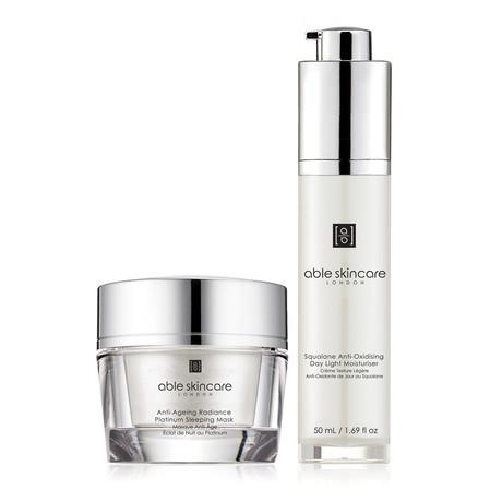 Anti-Aging Radiance Platinum Sleeping Mask + Squalane Anti-Oxidizing Day Light Moisturizer