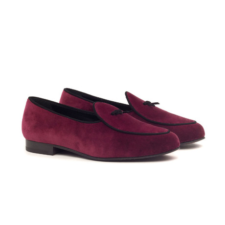 Belgian Slipper // Burgundy + Black (US: 5)