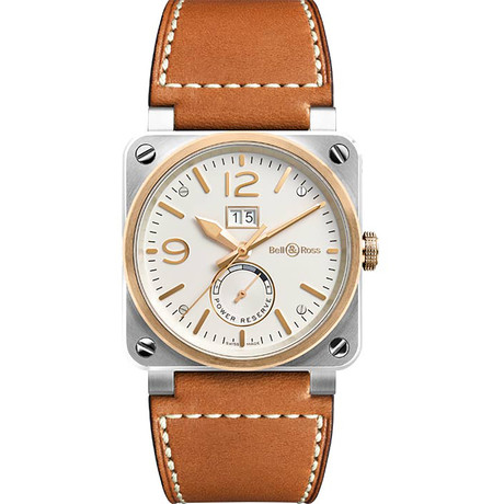 Bell & Ross Aviation Instruments Automatic // BR-03-90-STEEL-ROSE-GOLD
