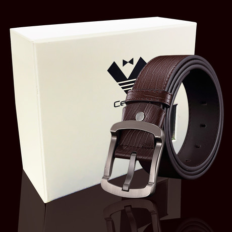 Reuben Leather Belt // Brown