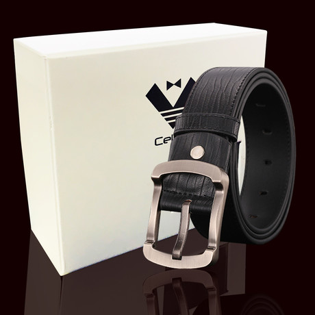 Damien Leather Belt // Black
