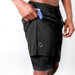 Warrior II Shorts // Black (XL)