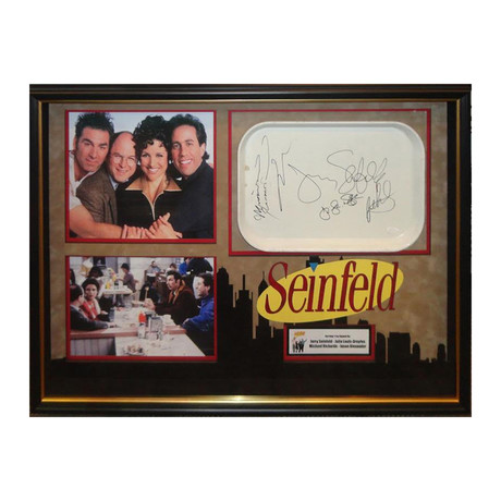Signed + Framed Tray Collage // Seinfeld