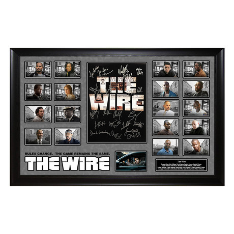 Signed + Framed Collage // The Wire