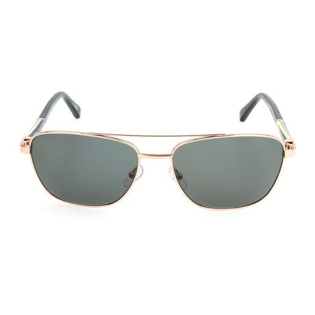 EZ0014 Sunglasses // Shiny Rose Gold
