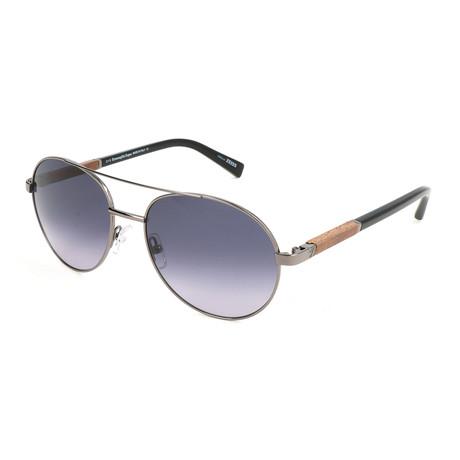 Men's EZ0013 Sunglasses // Shiny Gunmetal + Smoke Gradient