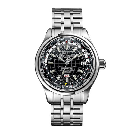 Ball Trainmaster World Time Automatic // GM1020D-S1CAJ-BK