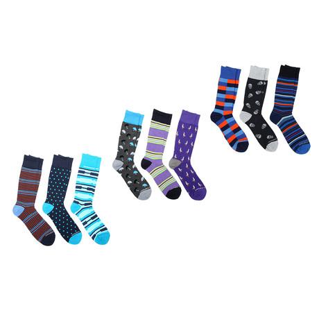 Crew Sock Combo Set // Floyd // 9 Pack