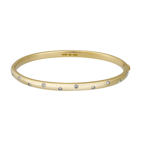 Vintage Tiffany & Co. 18k Yellow Gold + Platinum Etoile Diamond Bracelet // Bracelet: 6.25""