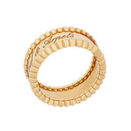 Vintage Van Cleef & Arpels 18k Yellow Gold Perlee Ring // Ring Size: 5.75