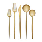 18/10 Skandia // Zephyr Satin Gold // Set of 20