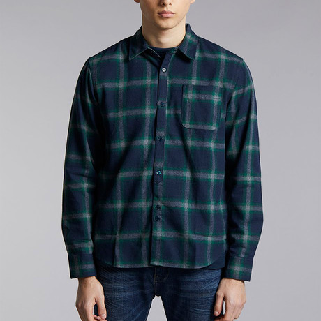 Uematsu Check Shirt // Navy (XS)