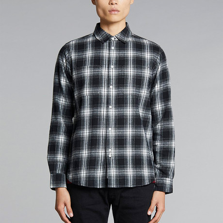 Vallegrande Check Flannel Shirt // Black (S)